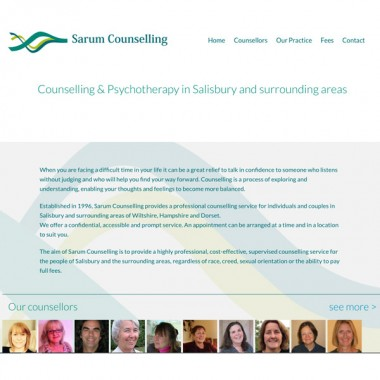 Sarum Counselling Website